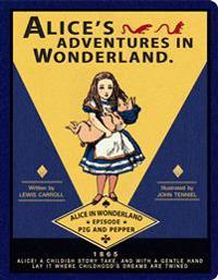 Alice in Wonderland Stitch Large Blank Notebook
