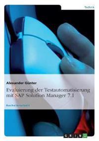 Evaluierung Der Testautomatisierung Mit SAP Solution Manager 7.1