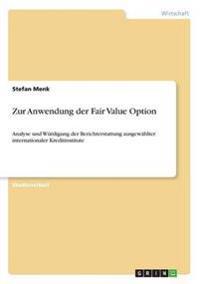Zur Anwendung Der Fair Value Option