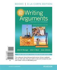 Writing Arguments: A Rhetoric with Readings, Concise Edition, Books a la Carte Edition, MLA Update Edition