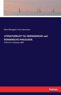 Literaturblatt Fur Germanische Und Romanische Philologie