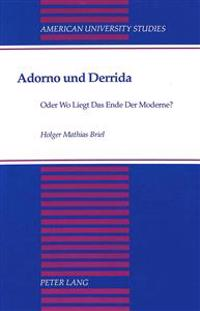 Adorno Und Derrida