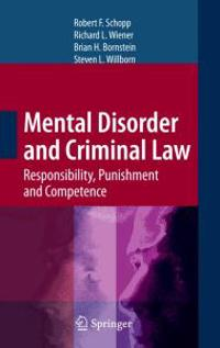 Mental Disorder and the Criminal Law