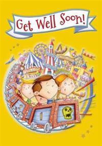 Funfair - Get Well Colouring Card-Book