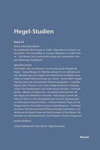 Hegel-Studien Band 23 (1988)