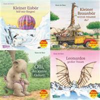 Maxi-Pixi-Serie Nr. 55: 4er Bundle: Tiergeschichten von Hans de Beer