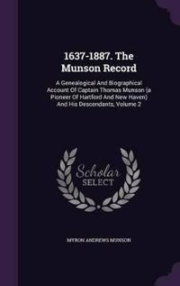 1637-1887. the Munson Record