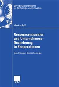 Ressourcentransfur Und Unternehmensfinanzierung in Kooperationen
