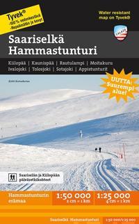 Saariselkä Hammastunturi tunturikartta 1:50 000/1:25 000