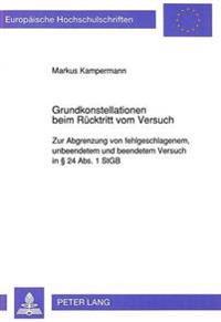 Grundkonstellationen Beim Ruecktritt Vom Versuch: Zur Abgrenzung Von Fehlgeschlagenem, Unbeendetem Und Beendetem Versuch in 24 ABS. 1 Stgb