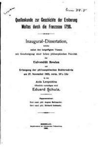 Quellenkunde Zur Geschichte Der Eroberung Maltas Durch Die Franzosen 1798