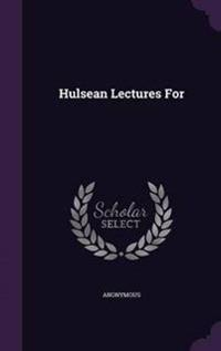 Hulsean Lectures for