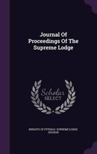Journal of Proceedings of the Supreme Lodge
