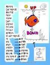 Malebog Laer Engelsk Med Fisk Farve Ordene Laere Begreber for Born for Alle Hvem Vil at Laere Engelsk Op Ned Hojre Venstre Diagonal Mellem Ved Siden A