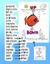 Kleurboek Engels Leren Met VIS Kleur de Woorden Leren Concepten Voor Kinderen Voor Iedereen Wie Wil Engels Leren Omhoog Naar Beneden Rechts Links Diag
