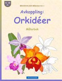 Brockhausen Malarbok Vol. 1 - Avkoppling: Orkideer: Malarbok