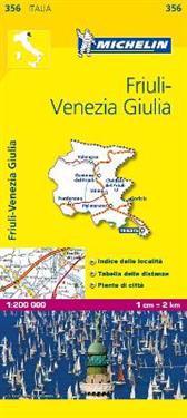 Michelin Map Italy: Friuli-Venezia Giulia 356