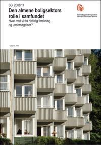 Den almene boligsektors rolle i samfundet