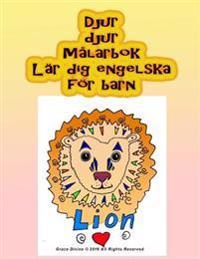 Djur Djur Malarbok Lar Dig Engelska for Barn