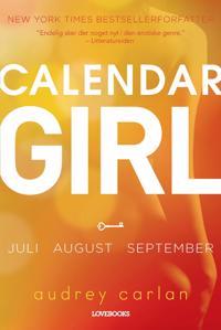 Calendar girl-Juli, august, september