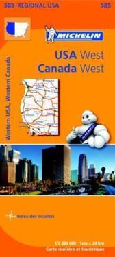 Western USA, Western Canada - Michelin Regional Map 585