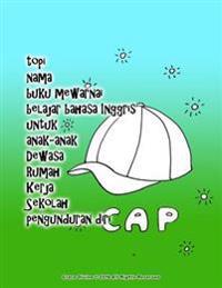 Topi Nama Buku Mewarnai Belajar Bahasa Inggris Untuk Anak-Anak Dewasa Rumah Kerja Sekolah Pengunduran Diri