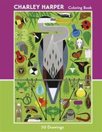 Charley Harper 50 Drawings Coloring Book  Cbk009