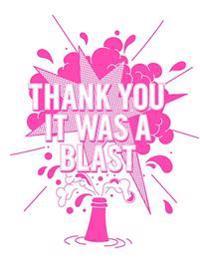 Thank you it was a blast : dubbla kort med kuvert 6-pack