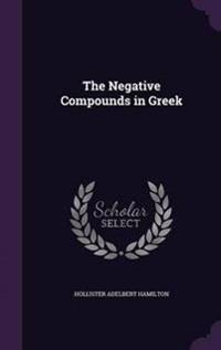 The Negative Compounds in Greek