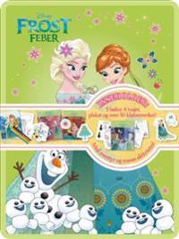 Frost feber. Disney tinnboks. 3 bøker. 4 tusjer. 1 plakat. 50 klistremerker