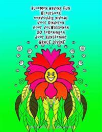 Bloemen Having Fun Kleurboek Eenvoudig Niveau Voor Kinderen Voor Volwassenen 20 Tekeningen Door Kunstenaar Grace Divine