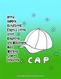 Hoed Namen Kleurboek Engels Leren Voor Kinderen Volwassenen Huis Werken School Pensioen