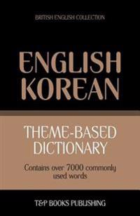 Theme-Based Dictionary British English-Korean - 7000 Words
