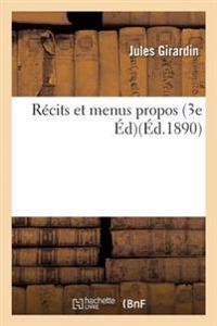 Recits Et Menus Propos 3e Ed