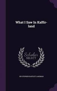What I Saw in Kaffir-Land