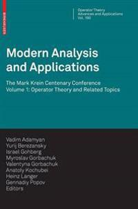 Modern Analysis and Applications