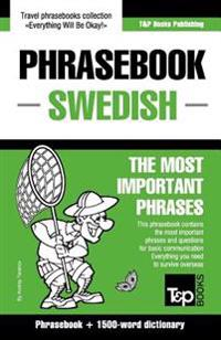 English-Swedish Phrasebook and 1500-Word Dictionary