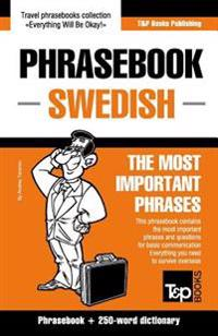 English-Swedish Phrasebook and 250-Word Mini Dictionary