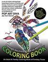 Through the Eyes of an Artist Fantasy Art Coloring Book: An Adult & Family Coloring Book of Fantasy Faces