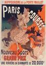 Carnet Blanc, Affiche Hippodrome Porte Maillot Paris