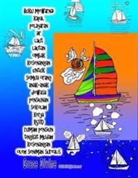 Buku Mewarnai Kapal Pelayaran Air Laut Lautan Ombak Kesenangan Untuk Semua Orang Anak-Anak Dewasa Pensiunan Sekolah Kerja Rsud Rumah Pensiun Tingkat M