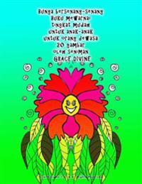 Bunga Bersenang-Senang Buku Mewarnai Tingkat Mudah Untuk Anak-Anak Untuk Orang Dewasa 20 Gambar Oleh Seniman Grace Divine