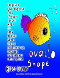 fargebok Lær engelsk Fisk figurer Deler moro til barn Voksne skole arbeid pensjonering sykehus everywehre etter artist