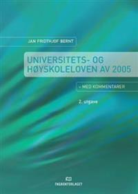 Universitets- og høyskoleloven - Jan Fridthjof Bernt pdf epub