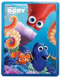 Oppdrag Dory. Disney tinnboks. 3 bøker. 4 tusjer. Plakat og klistremerker!