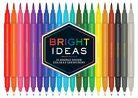 Bright Ideas: 20 Double-Ended Colored Brush Pens