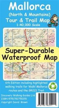 Mallorca NorthMountains TourTrail Super-Durable Map