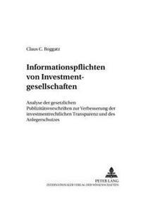 Informationspflichten Von Investmentgesellschaften