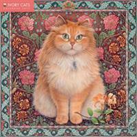 Ivory Cats Wall Calendar 2017