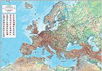 Eurooppa seinäkartta 1:5 milj.